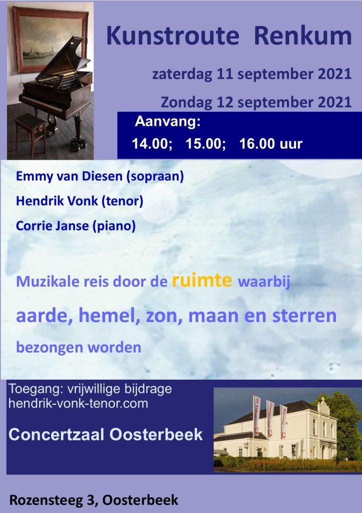 Kunstroute Renkum 11-12 september 2021